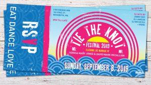 tie the knot festival wedding invitations