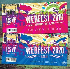 wedfest festival wedding invitations