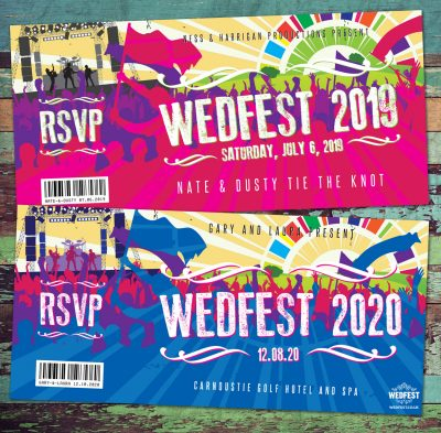 wedfest festival wedding invitations