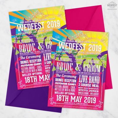 wedfest flyer poster line up festival wedding invite