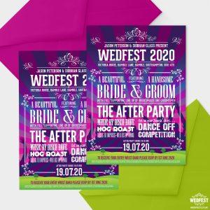 wedfest poster line up festival wedding invitation