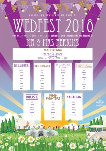 band names wedfest wedding table plan