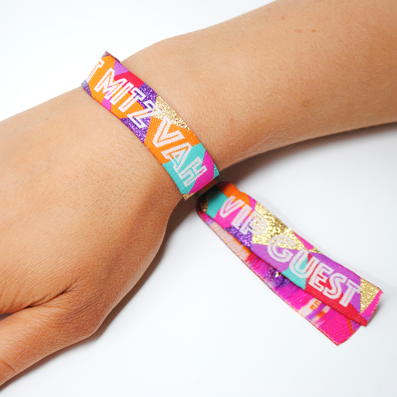 bat mitzvah celebration festival party wristbands