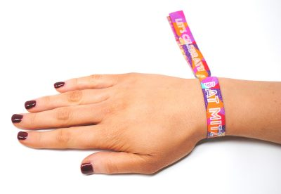 festival themed bat mitzvah party wristband