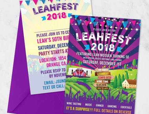 Festival Birthday Party Invites