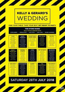 hacienda manchester rave theme wedding table-planner