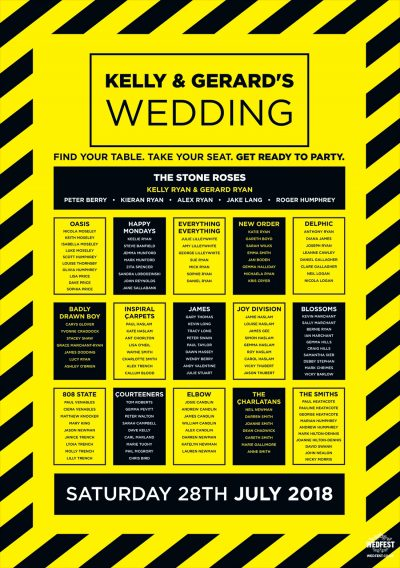 hacienda manchester rave theme wedding table-planner