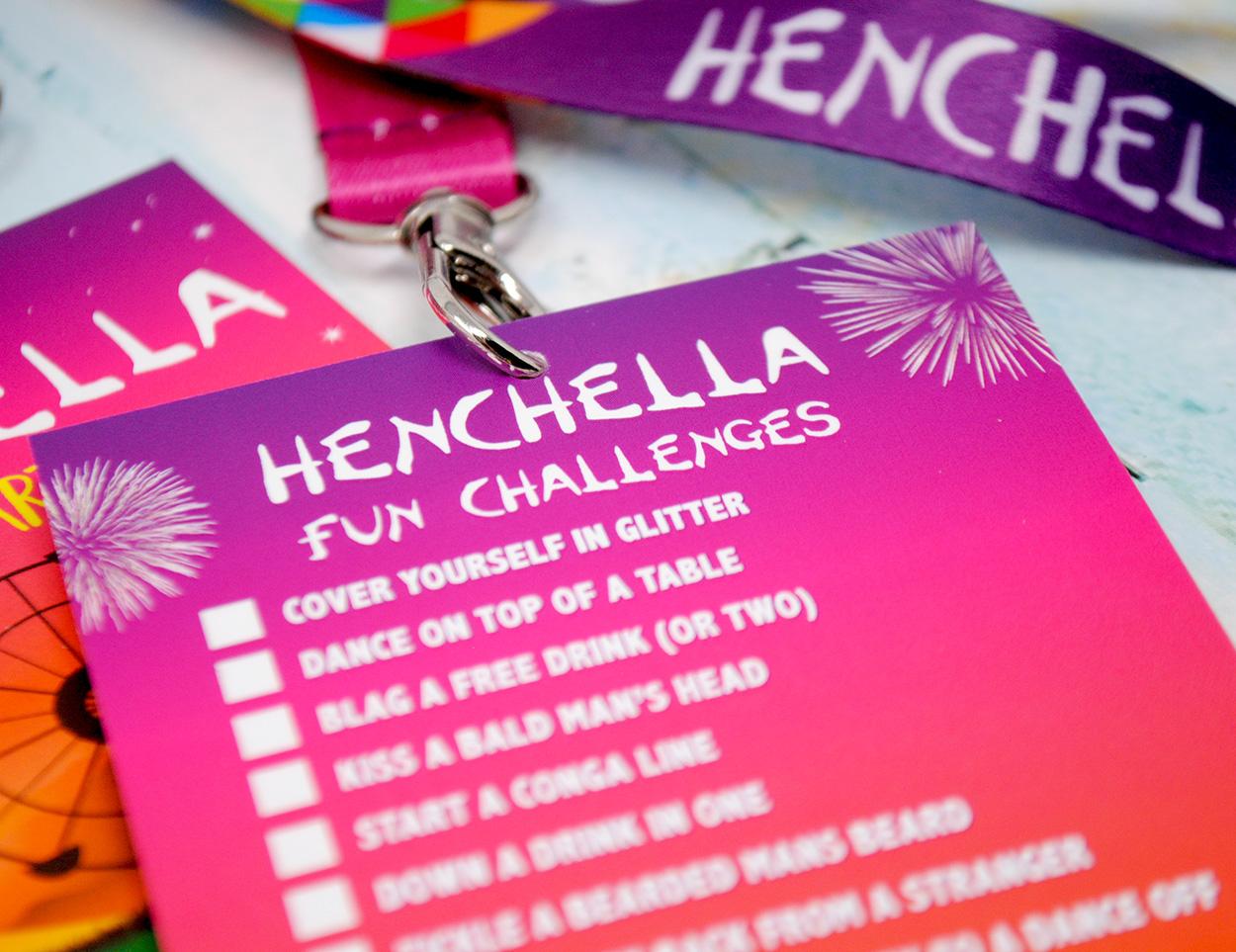 henchella festival hen party dares cards