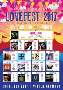 lovefest festival wedding germany seating chart