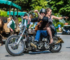 rock n roll bride motorcycle
