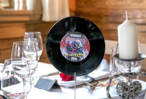 wedrock wedding vinyl record centre pieces