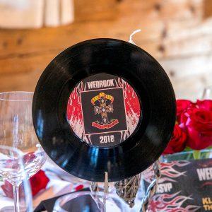 wedrock wedding vinyl records table number