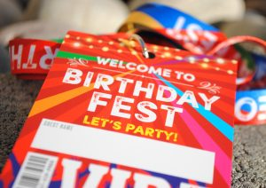 birthday festival party lanyards