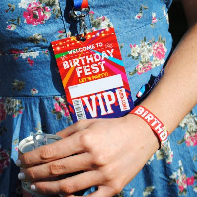 birthday party festival wristband vip pass