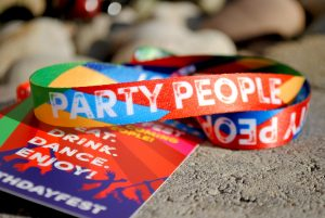 birthday party vip pass lanyard favours