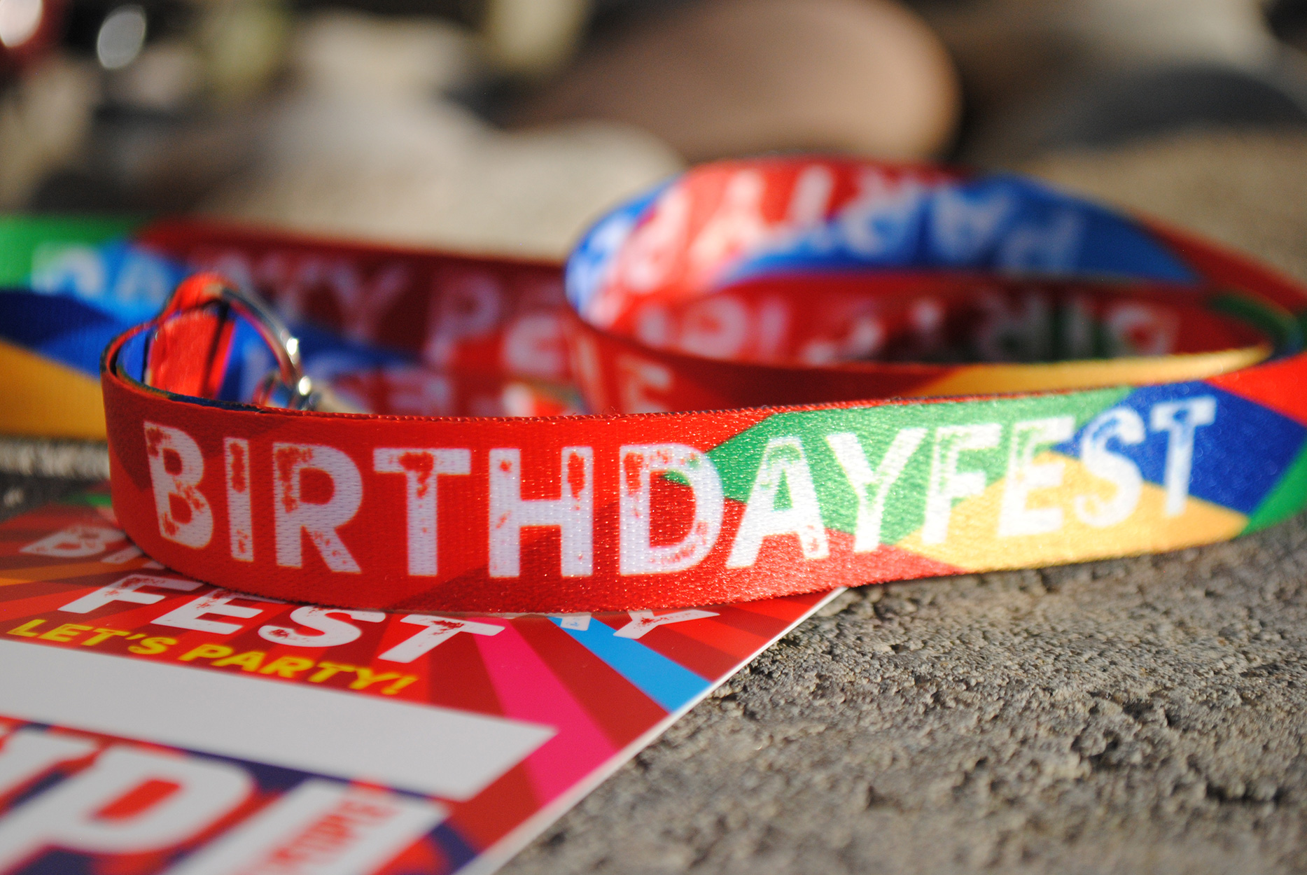 birthday party vip pass neck lanyard favours