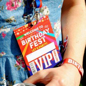 birthdayfest birthday party vip lanyards favours