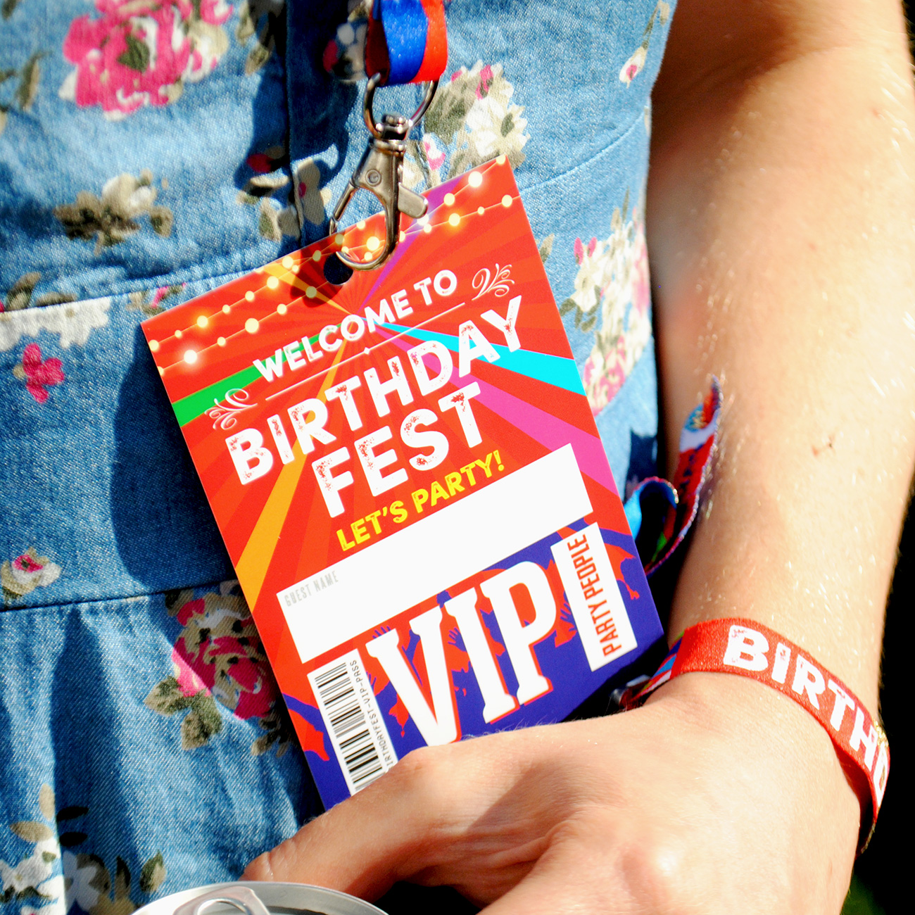 birthdayfest birthday party vip lanyards favours