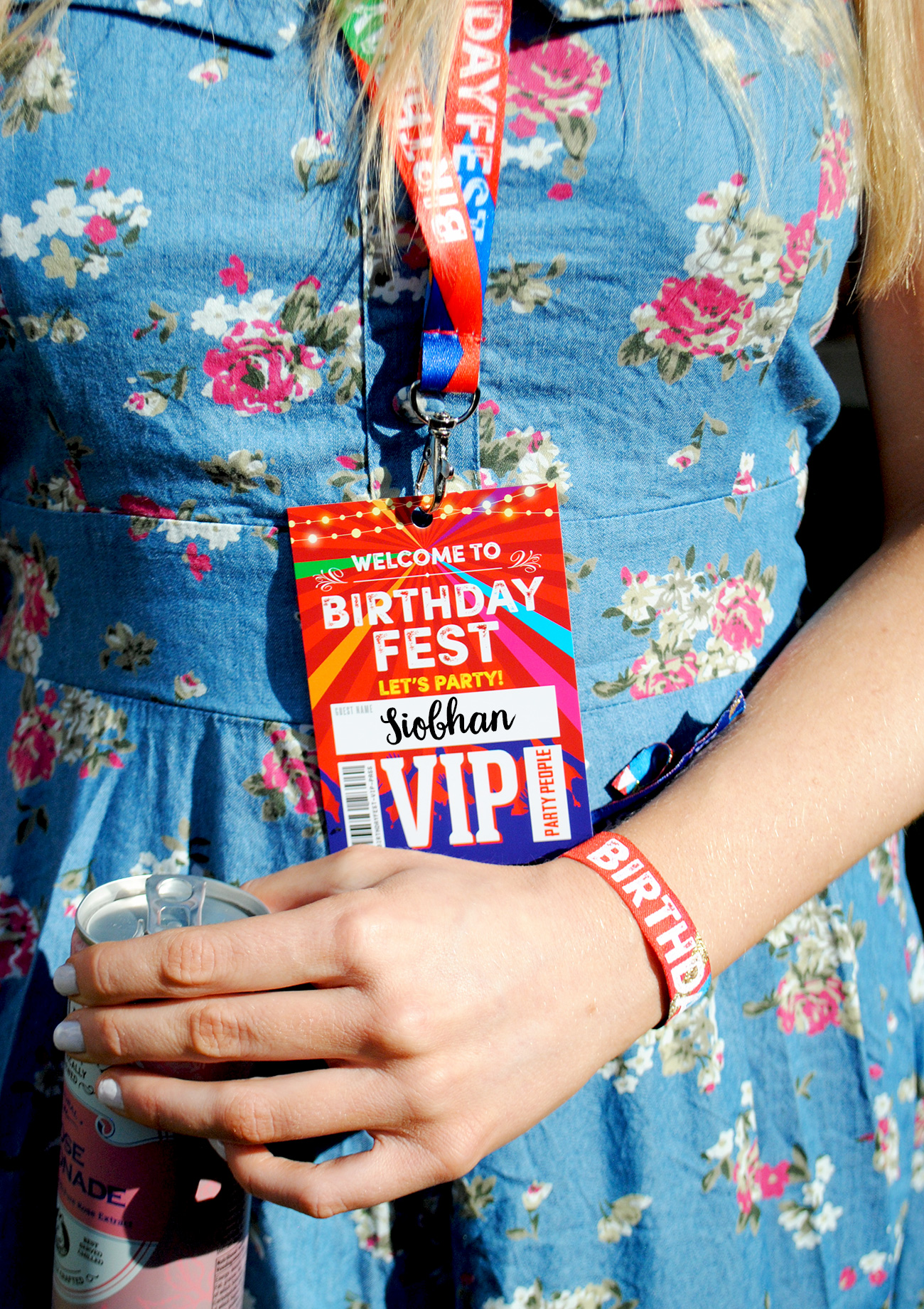 birthdayfest birthday party vip pass lanyards wristbands