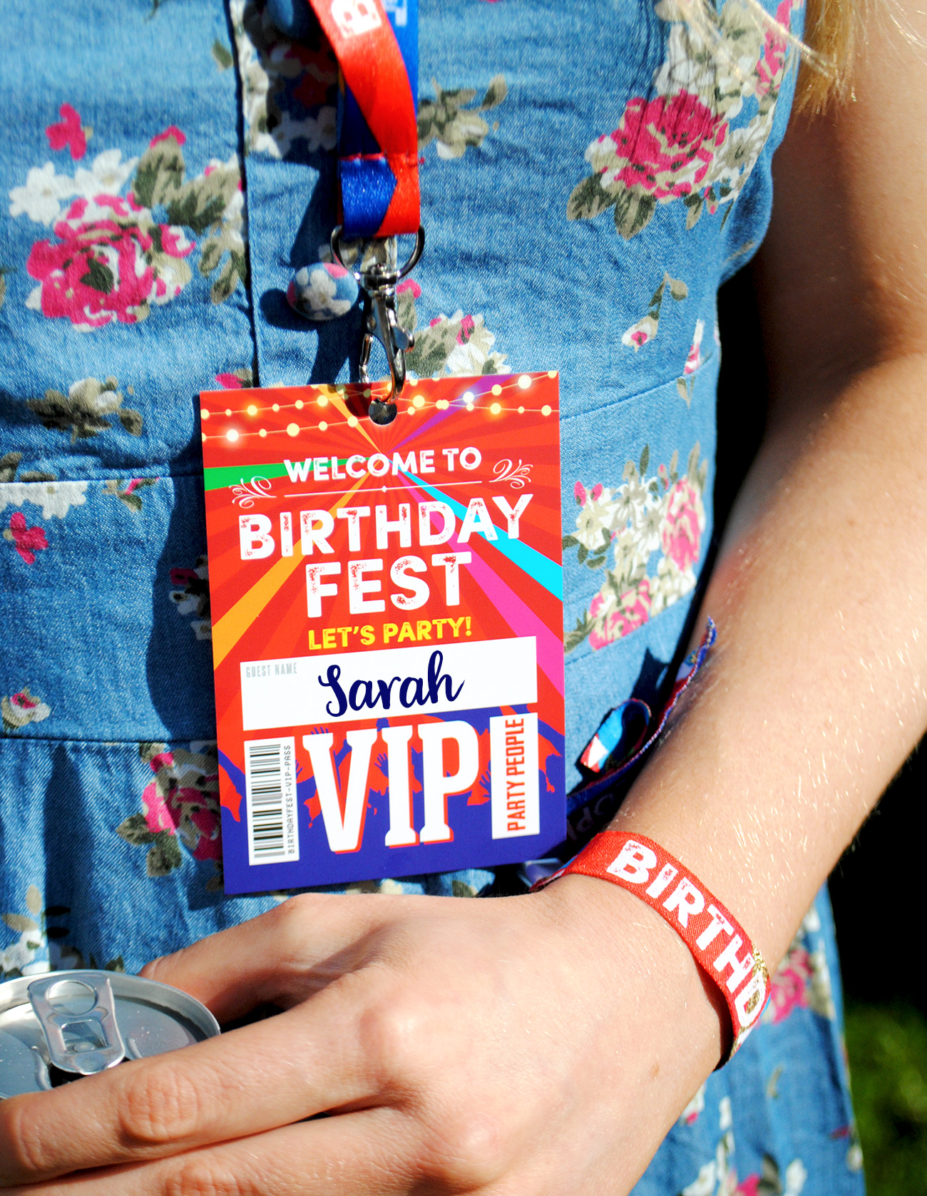 festival birthday party vip lanyards wristbands