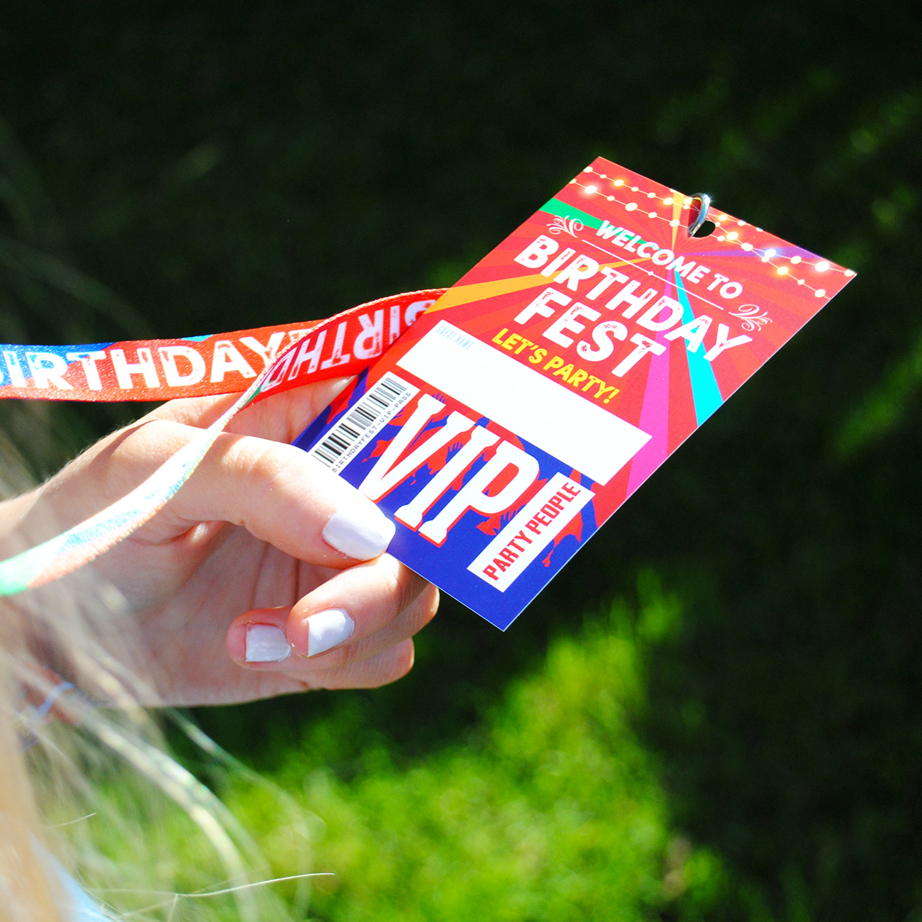 festival themed birthday party bag fillers