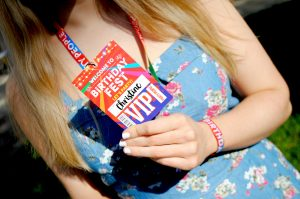 festival themed birthday party vip lanyards favours wristbands birthdayfest