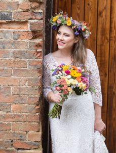 festival bride flower crown wedfest