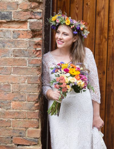 festival bride flower crown wedfest