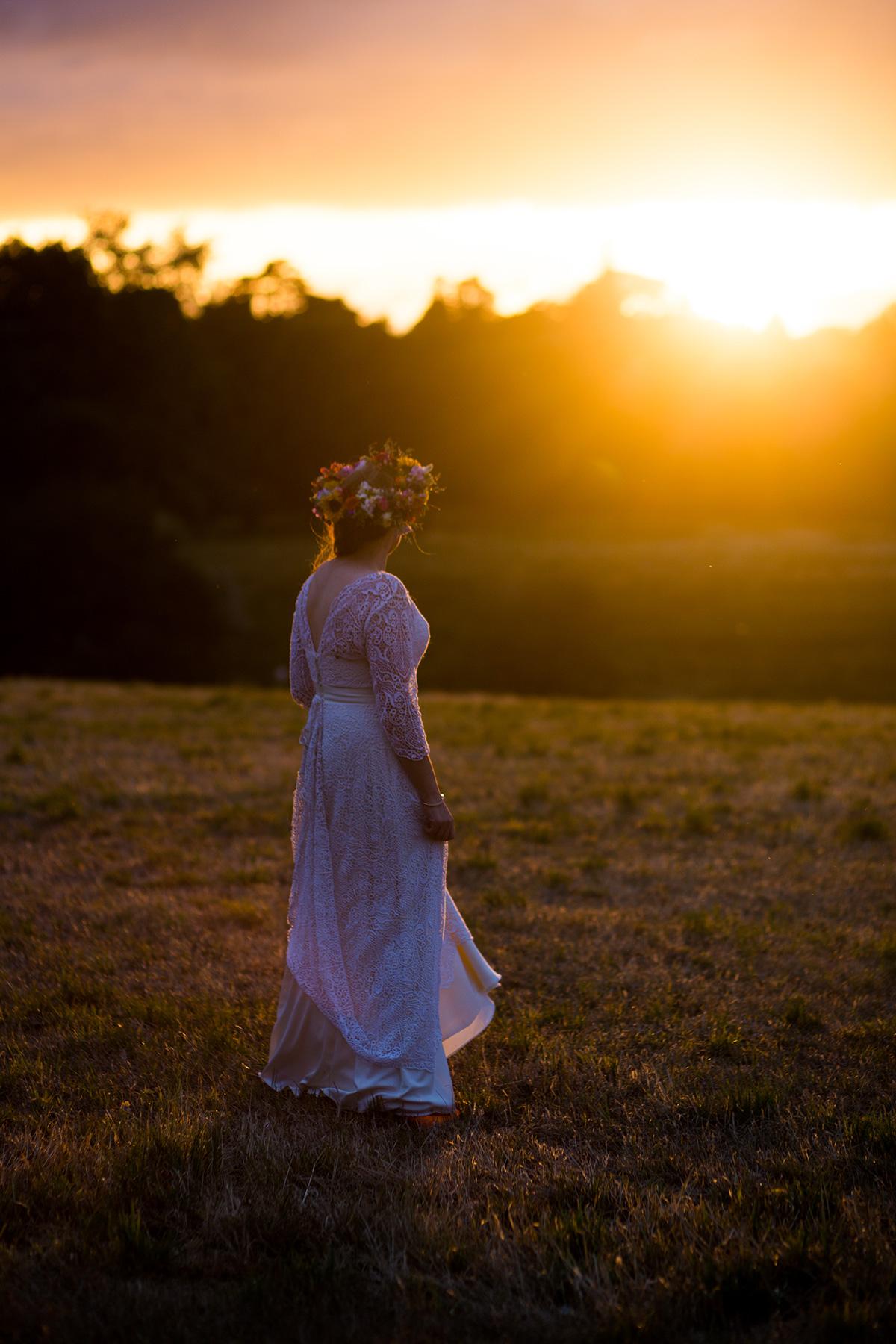 festival brides wedding sunset