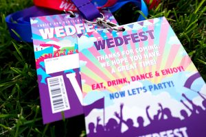 festival wedding place name vip lanyards
