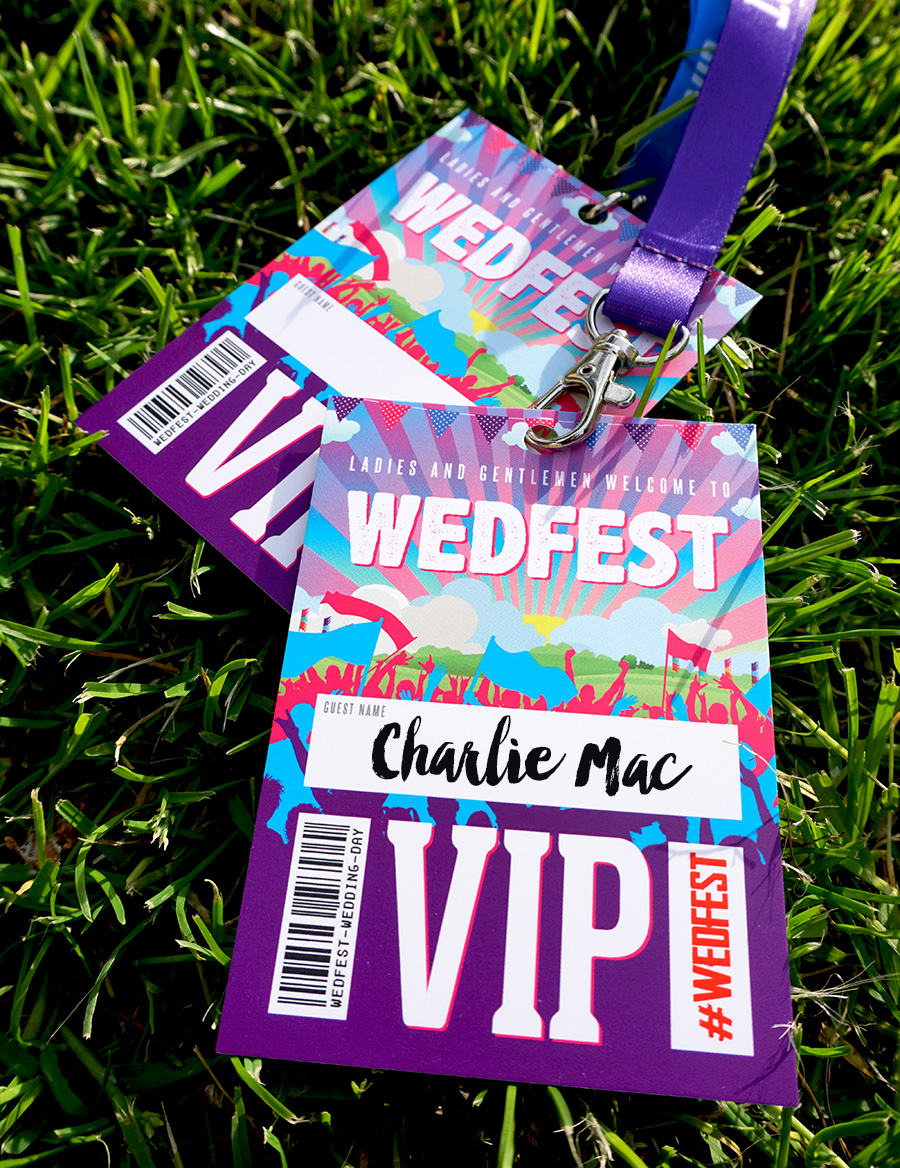 festival wedding place names festival lanyards wedfest