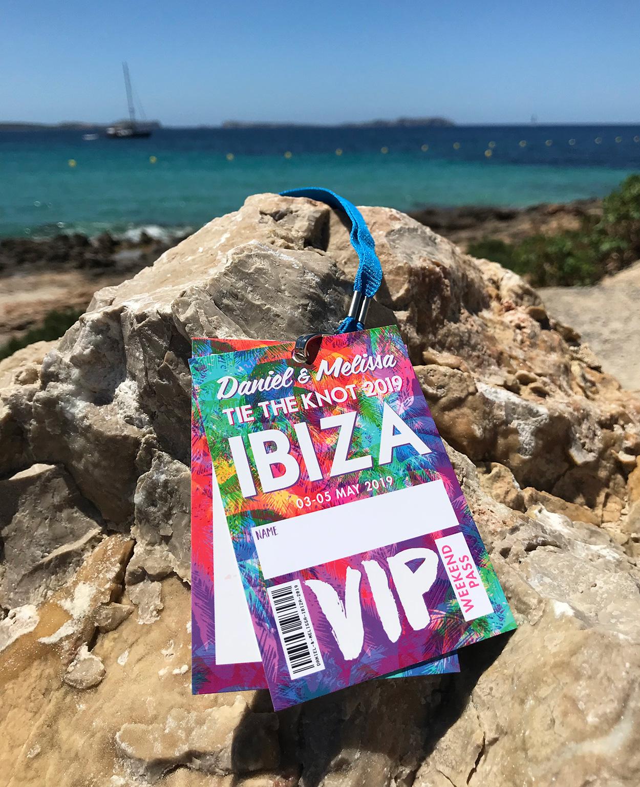 ibiza wedding vip lanyard programmes