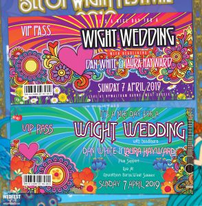 isle of wight festival wedding invitations