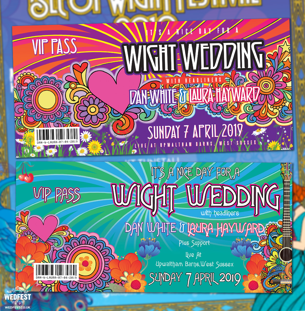 isle of wight festival wedding invitations