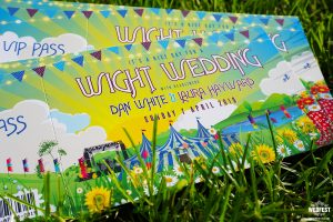 isle of wight wedfest festival themed wedding invitations