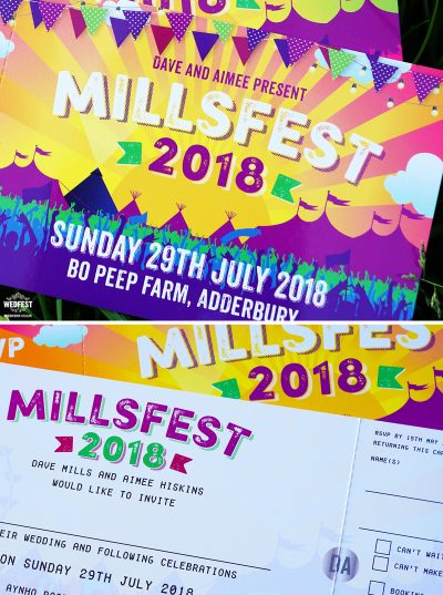 millsfest festival wedding-invites bo peep farm adderbury