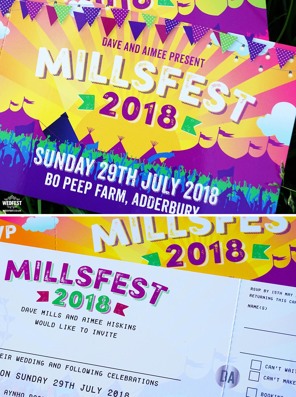 millsfest festival wedding-invites bo peep farm adderbury