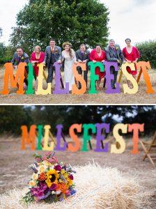 millsfest festival wedding sign letters