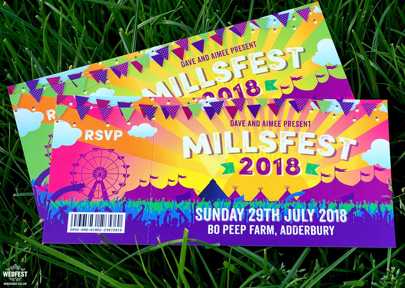 wedfest festival ticket wedding invitations bo peep farm