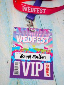 wedfest festival wedding vip pass lanyards