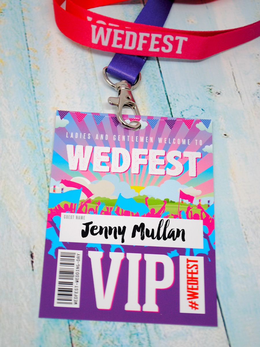 wedfest festival wedding vip pass lanyards