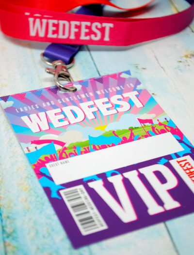 wedfest festival weddings place name vip lanyards