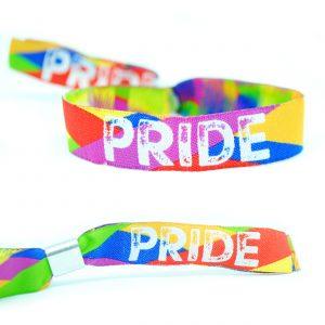 gay pride rainbow flag wristbands