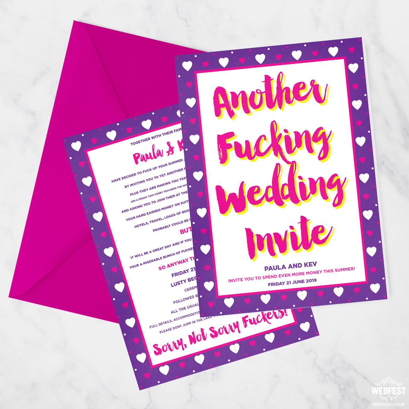 another fucking wedding invitation
