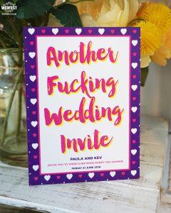another fucking wedding invite