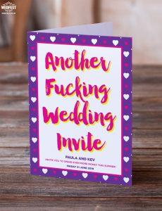 swearing cursing cussing fucking wedding invitation
