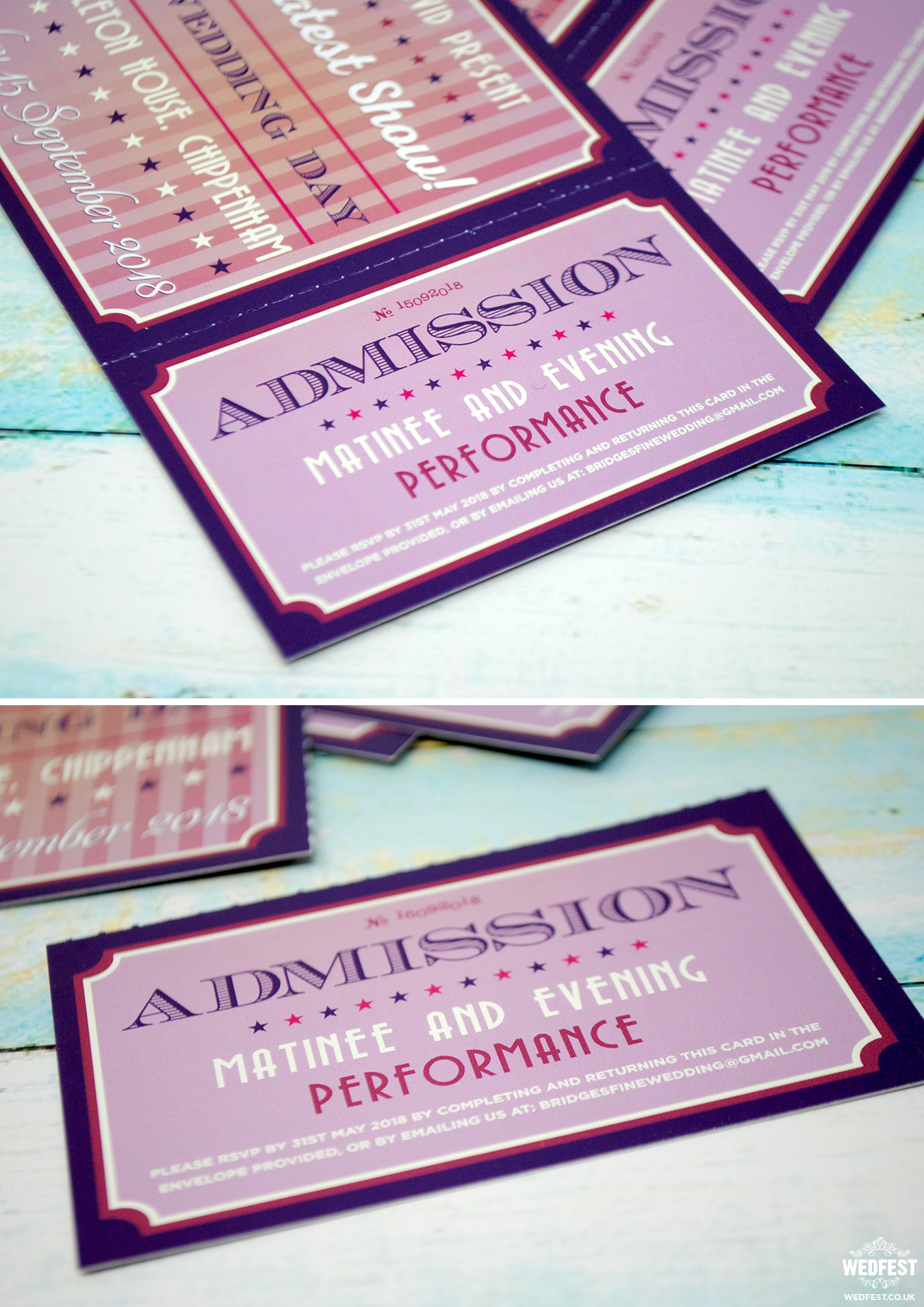 admission ticket stub wedding invitation rsvp