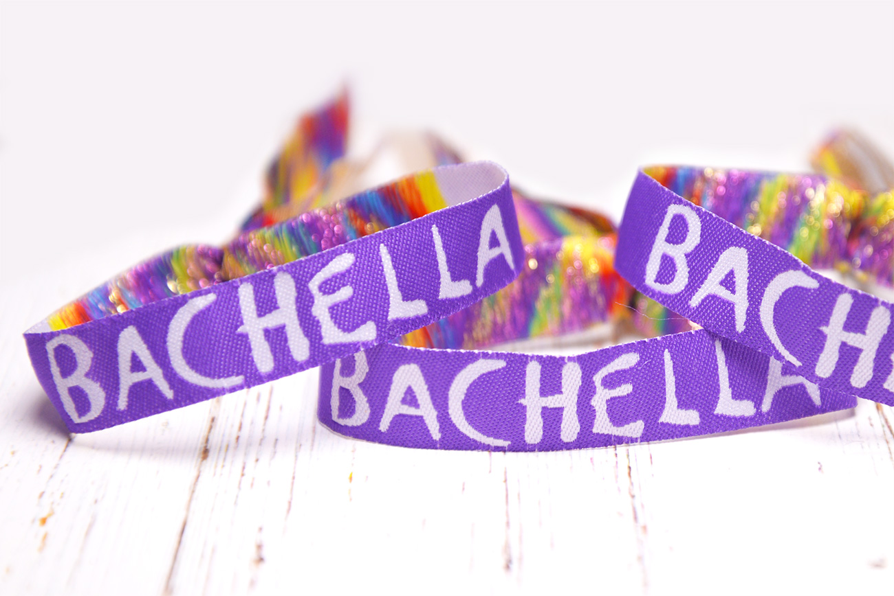 bachella festival bachelorette bridal shower party wristband bracelet