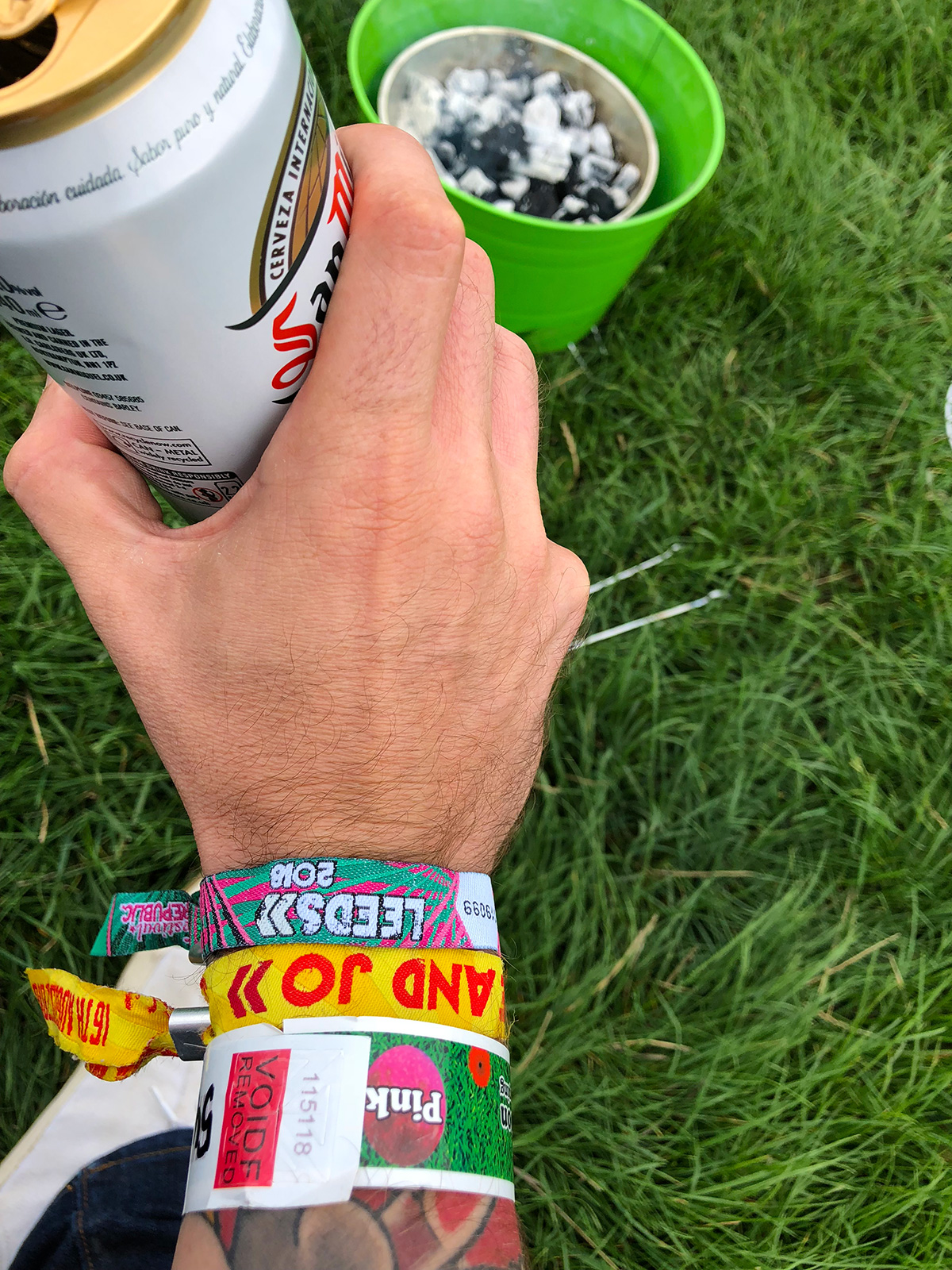 custom made personalised festival wristbands from wedfest