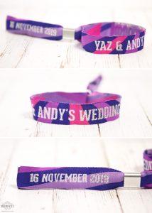 customised festival wedding wristbands